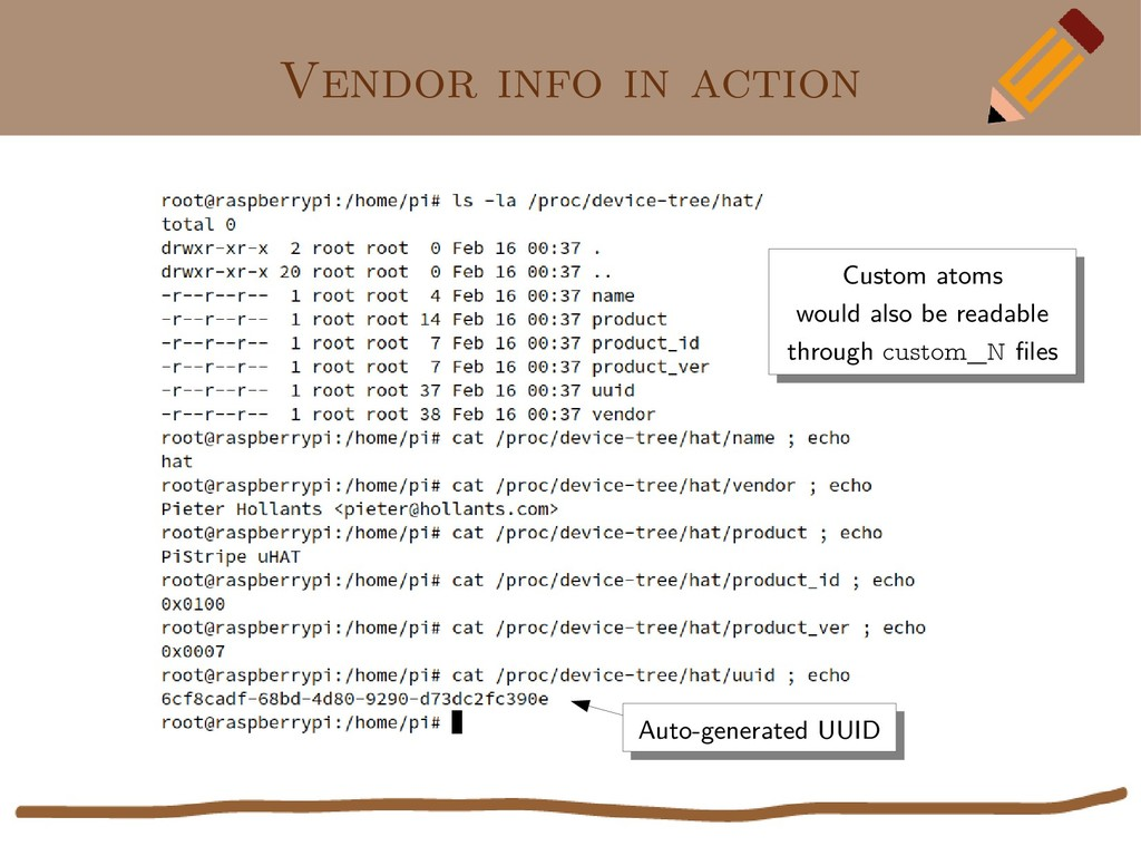 Vendor info in action Auto-generated UUID Auto-...