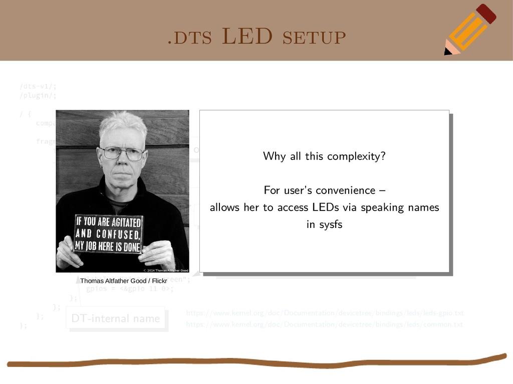 ".dts LED setup Overlay over ""leds"" tree of main..."