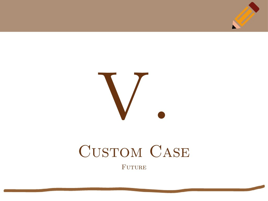 V. Custom Case Future