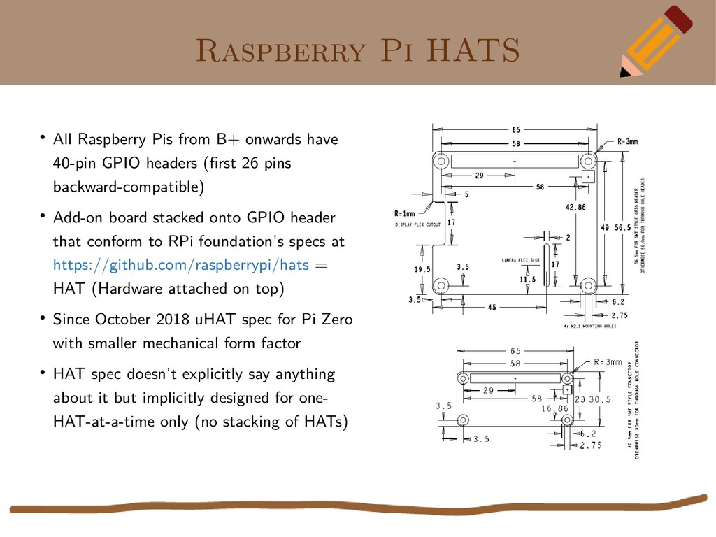 Raspberry Pi HATS ● All Raspberry Pis from B+ o...