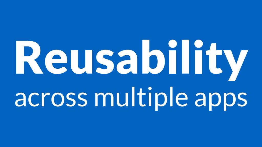 Reusability across multiple apps