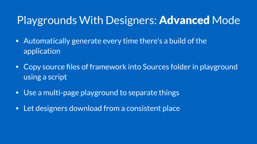 Playgrounds With Designers: Advanced Mode • Aut...
