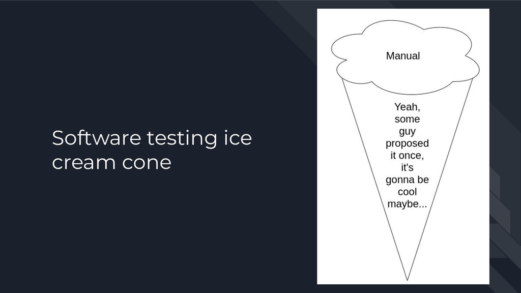Software testing ice cream cone