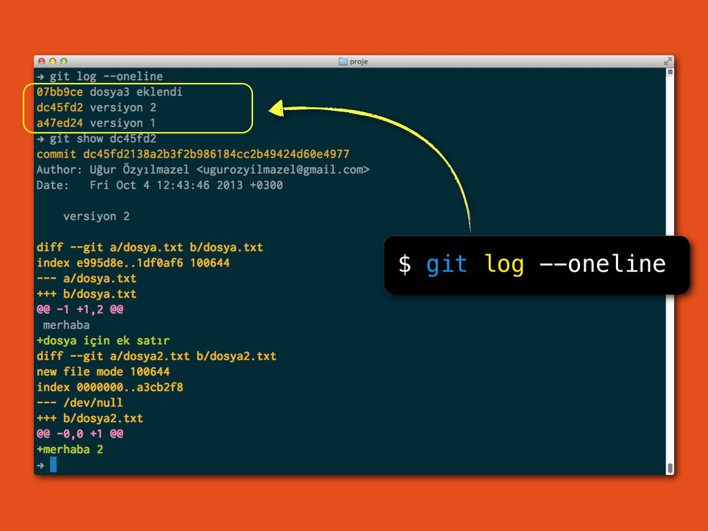$ git log --oneline