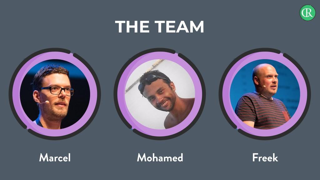 THE TEAM Marcel Mohamed Freek