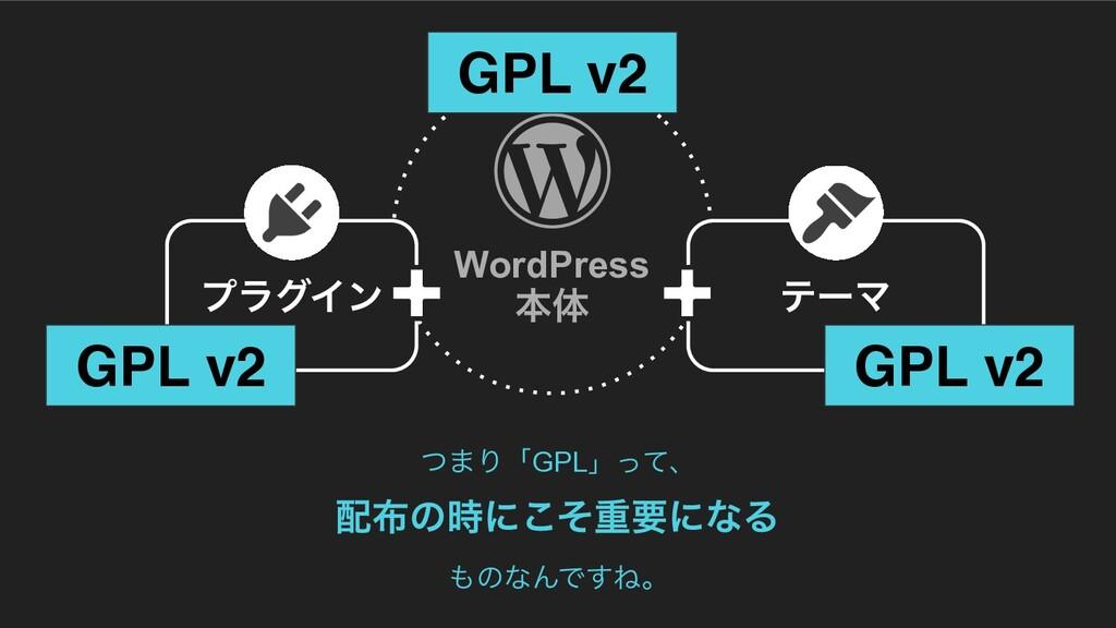 ϓϥάΠϯ ςʔϚ GPL v2 GPL v2 GPL v2 ͭ·ΓʮGPLʯͬͯɺ ͷ...
