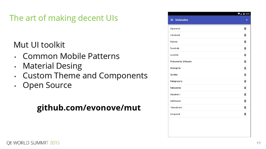 11 The art of making decent UIs Mut UI toolkit ...