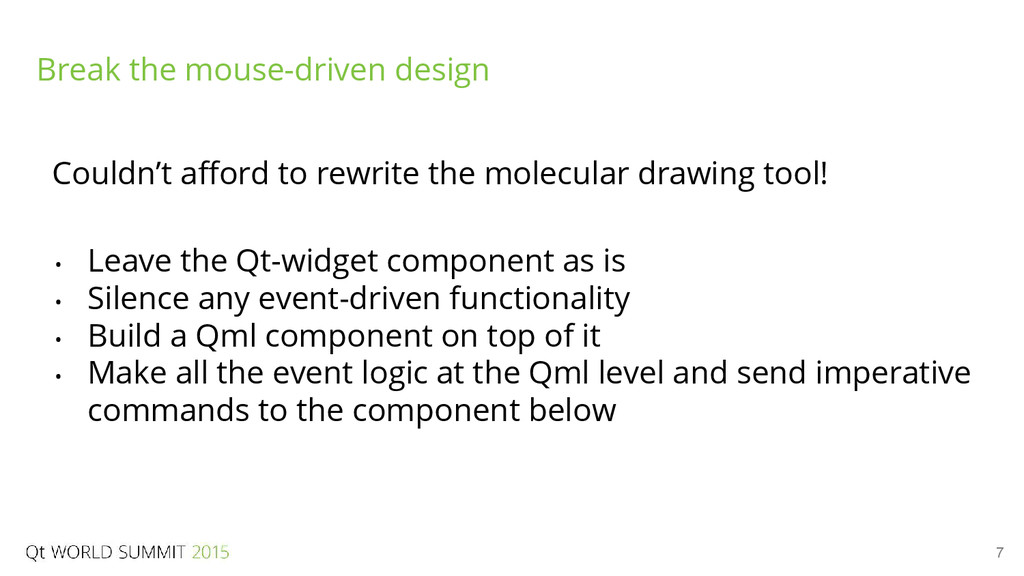 7 Couldn't afford to rewrite the molecular draw...