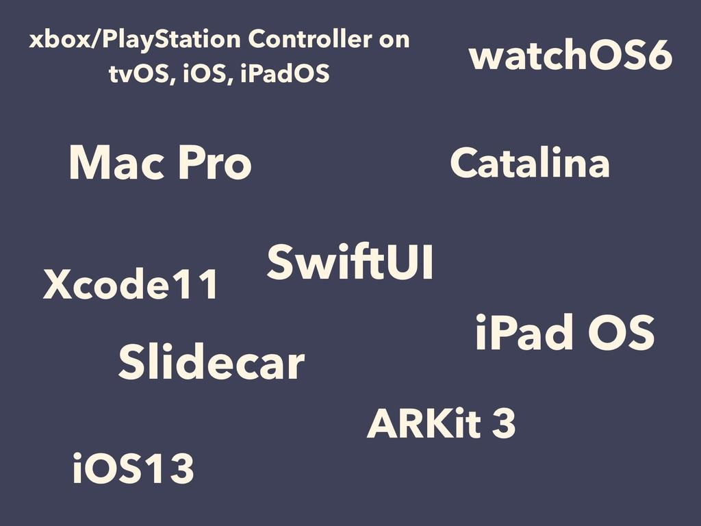 Mac Pro SwiftUI iPad OS Catalina Slidecar iOS13...