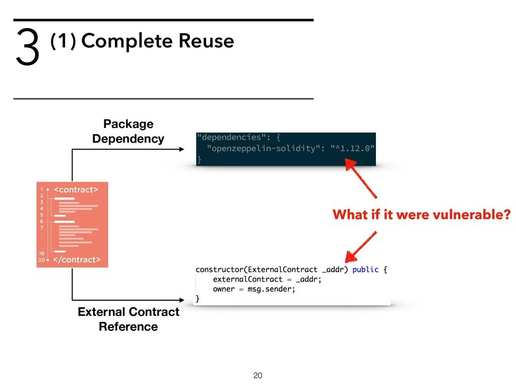 3(1) Complete Reuse !20 Package Dependency Exte...
