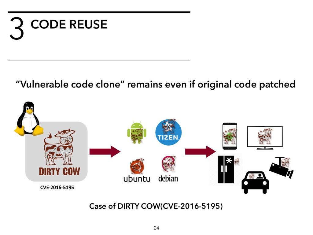 3CODE REUSE !24 CVE-2016-5195 Case of DIRTY COW...