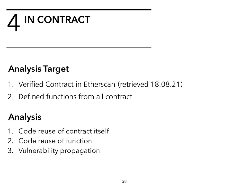 4 !28 Analysis Target 1. Verified Contract in E...