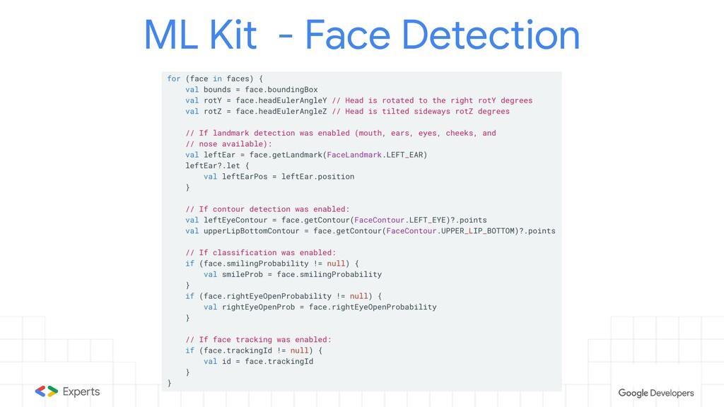 ML Kit - Face Detection