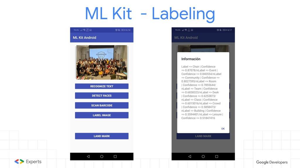 ML Kit - Labeling