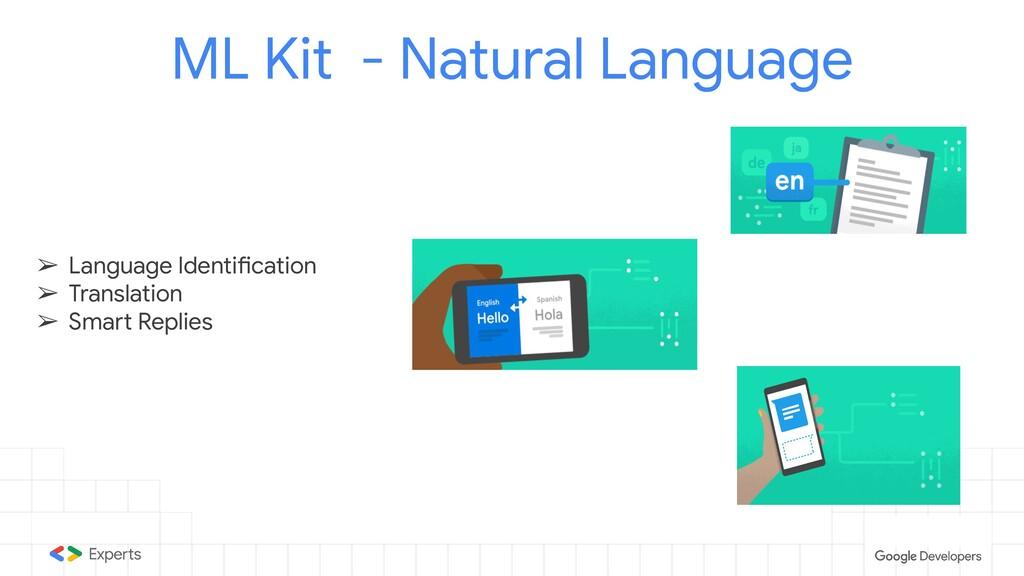ML Kit - Natural Language ➢ Language Identifica...