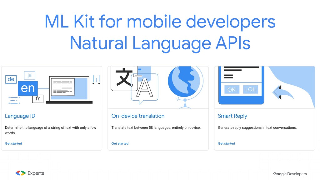 ML Kit for mobile developers Natural Language A...