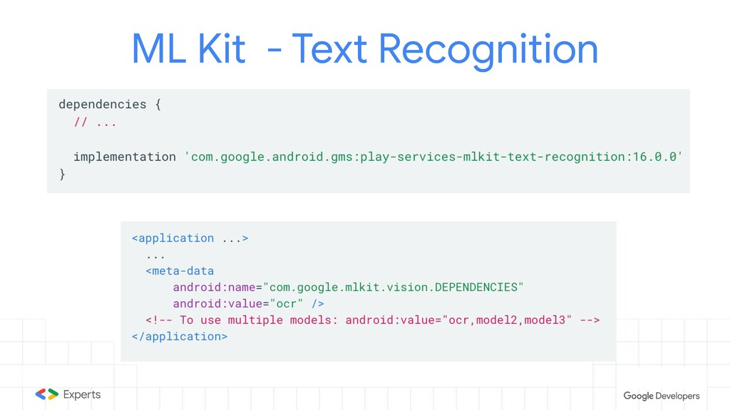 ML Kit - Text Recognition