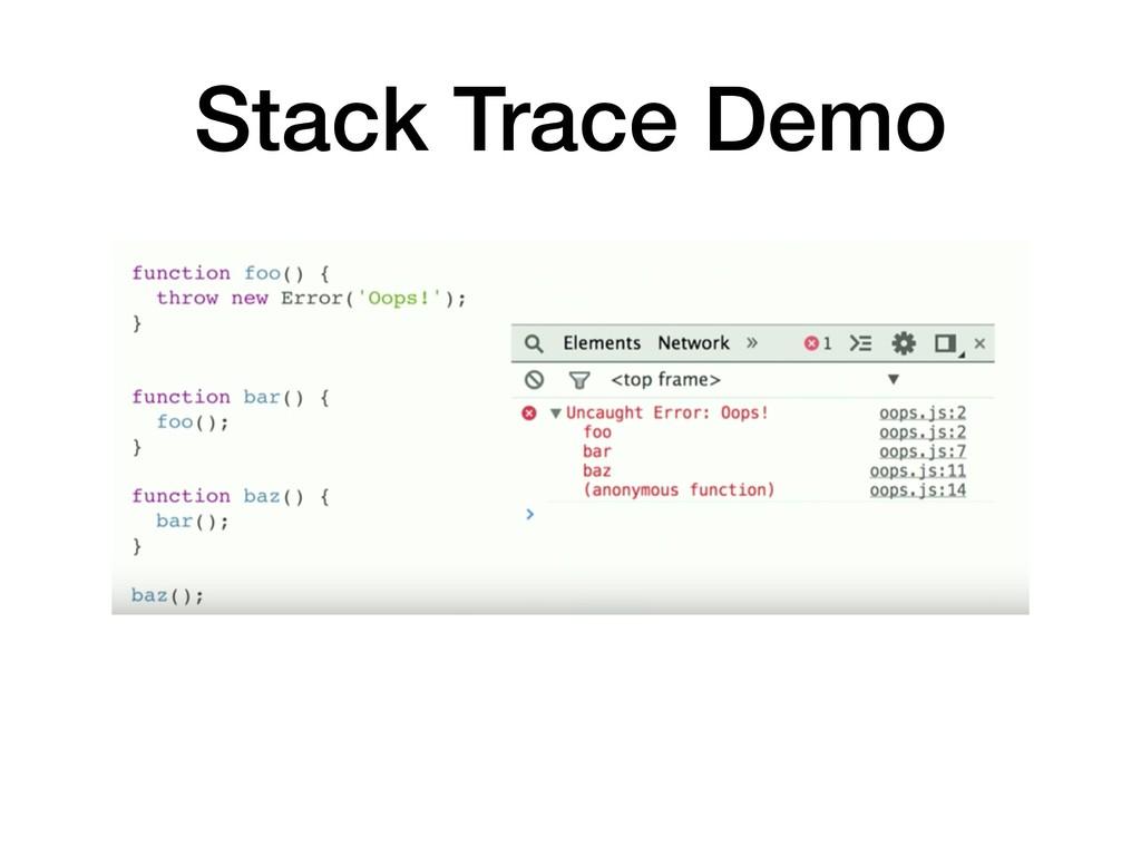 Stack Trace Demo