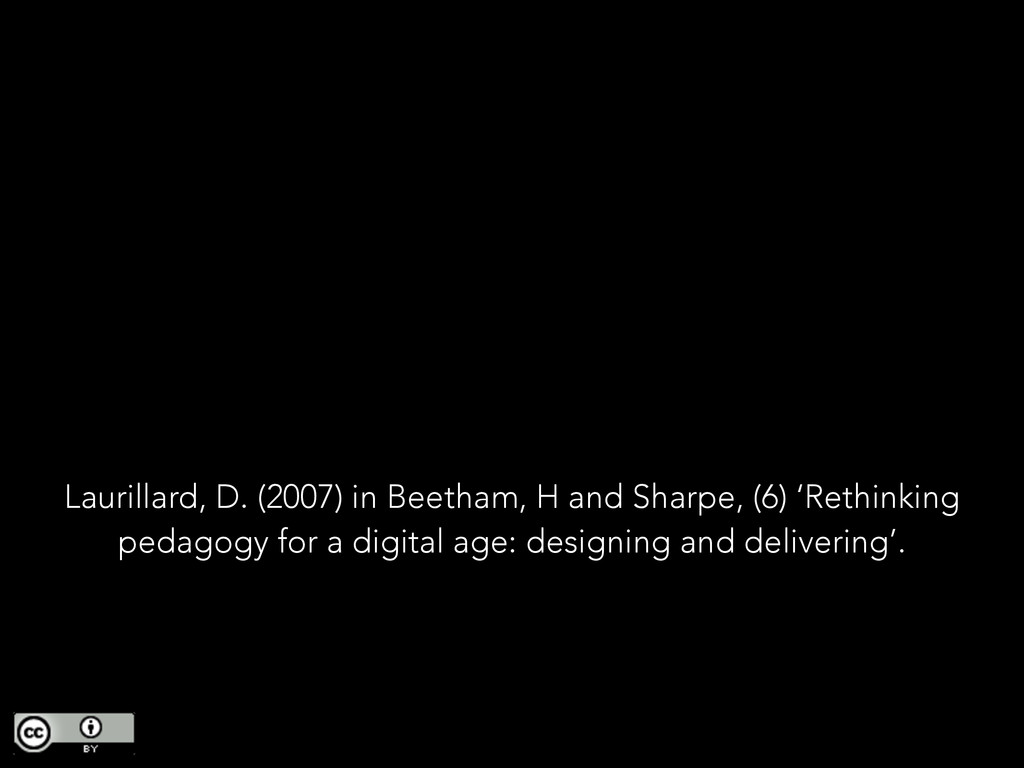 Laurillard, D. (2007) in Beetham, H and Sharpe,...