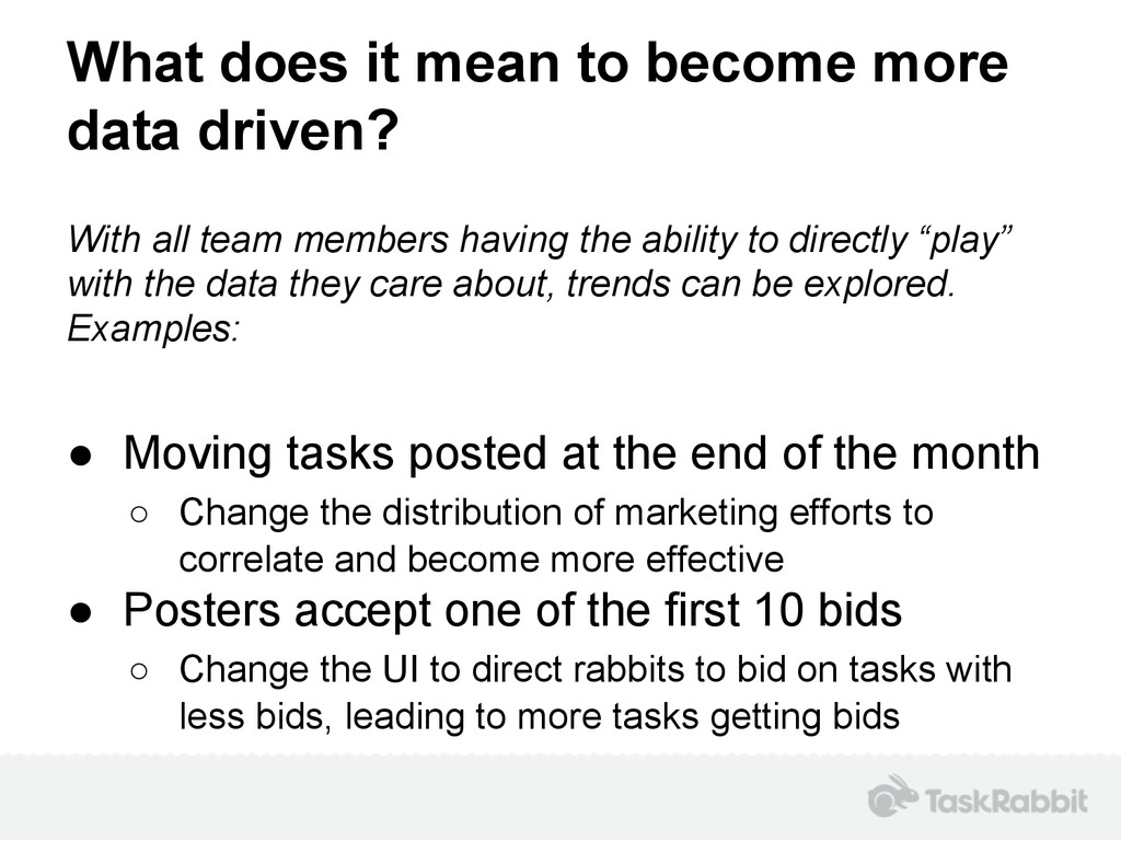 What does it mean to become more data driven? W...