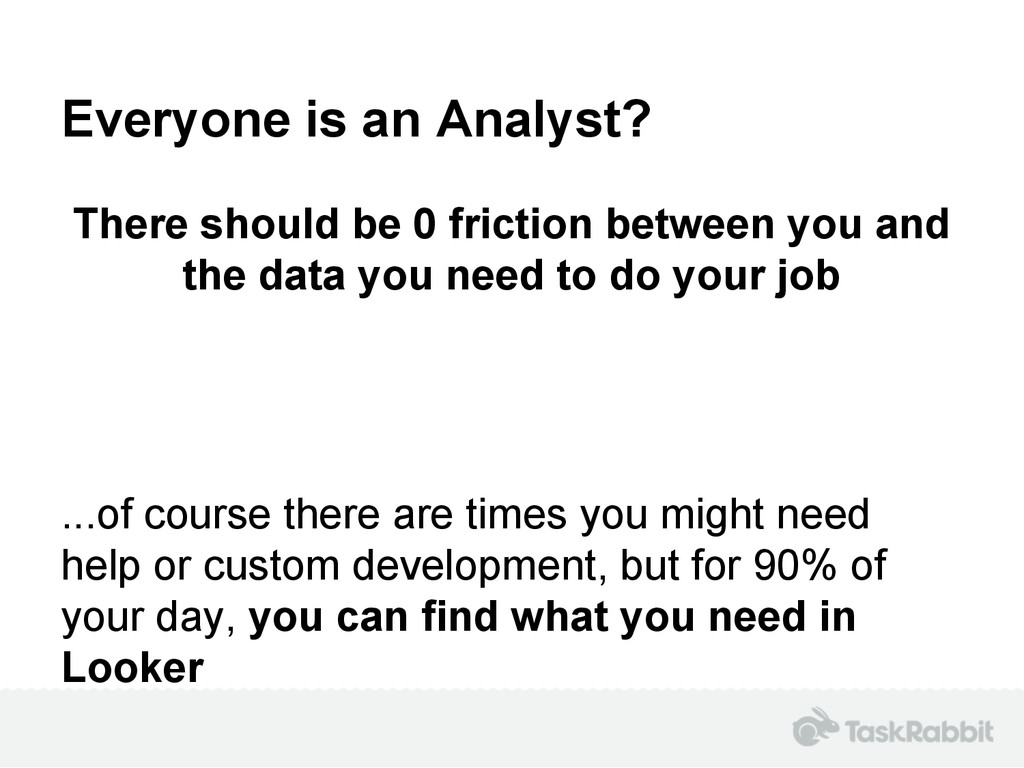 Everyone is an Analyst? There should be 0 frict...