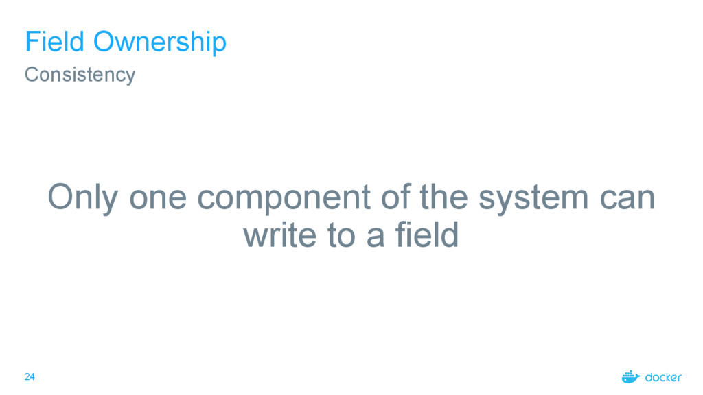 24 Field Ownership Only one component of the sy...