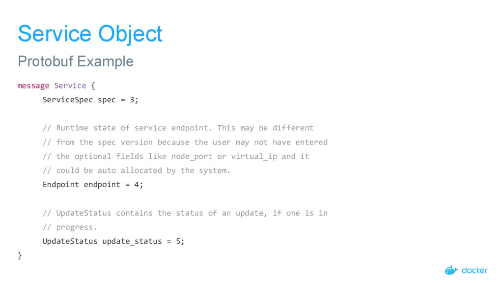 Service Object message Service { ServiceSpec sp...