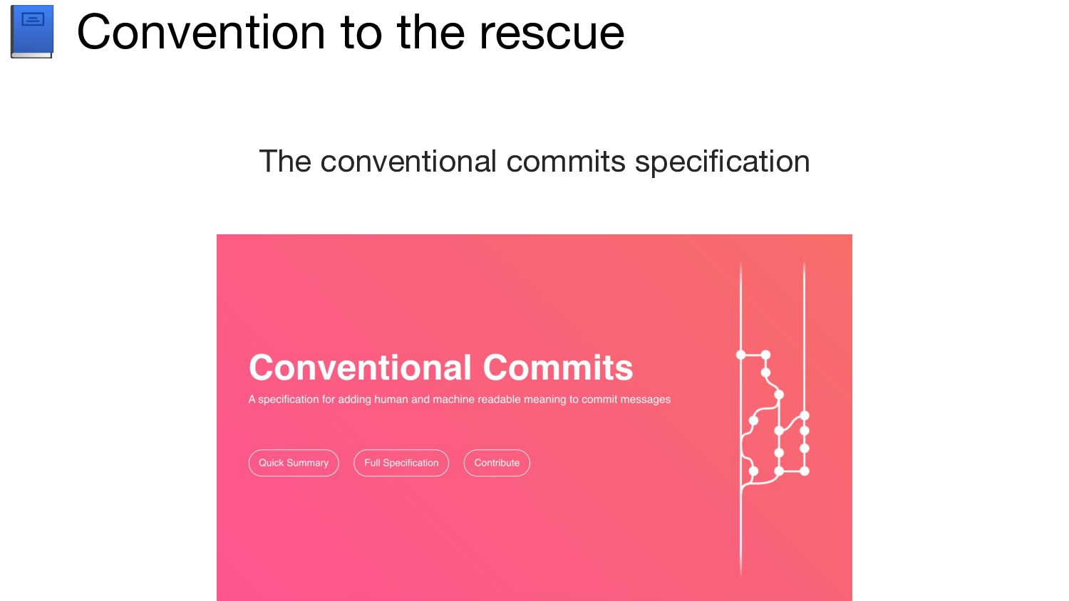 Conventional commits A set of rules for creati...