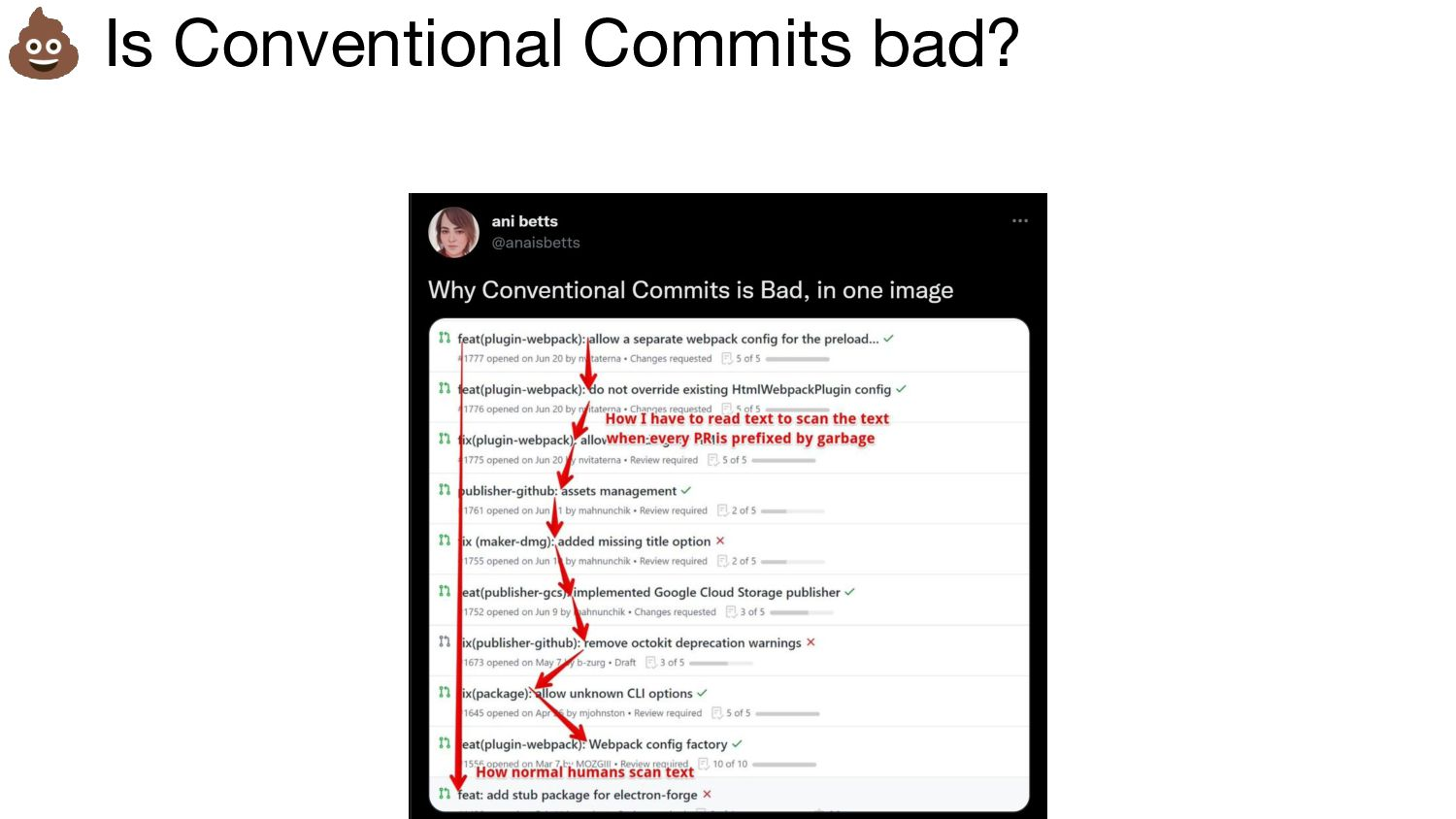 Emojis in commit messages « Man you definitely ...