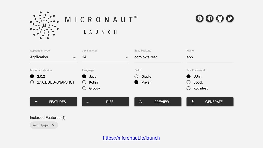 https://micronaut.io/launch