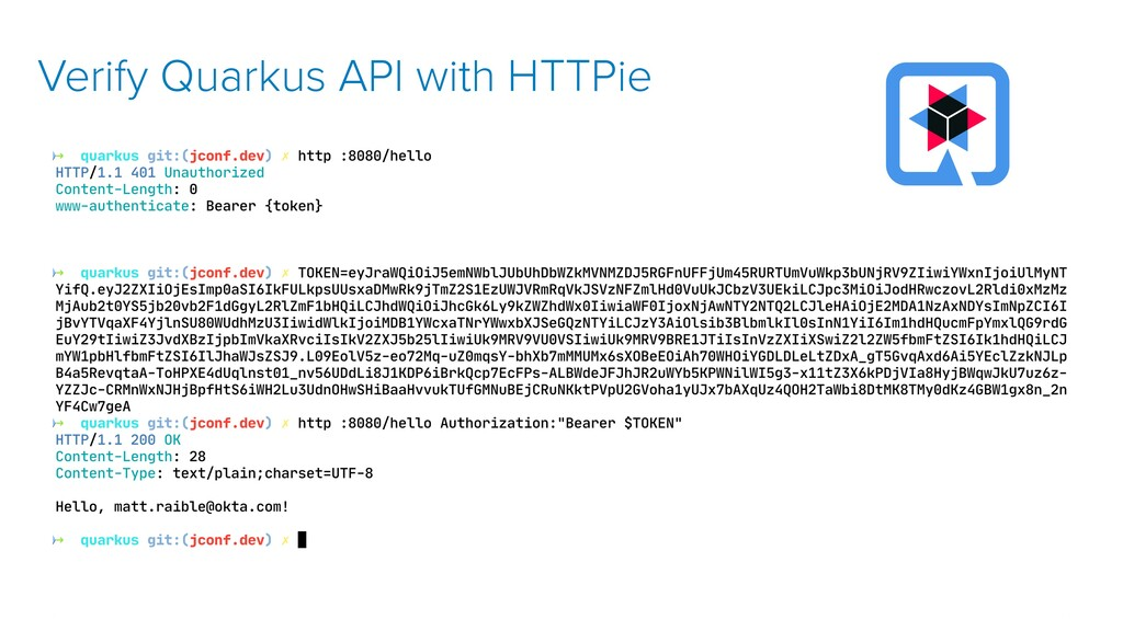 Verify Quarkus API with HTTPie