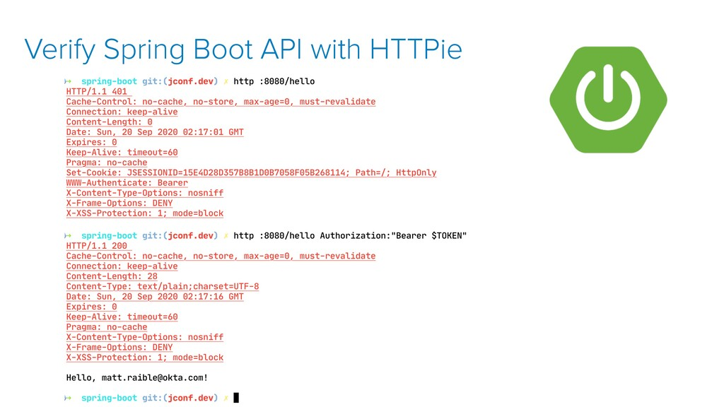 Verify Spring Boot API with HTTPie
