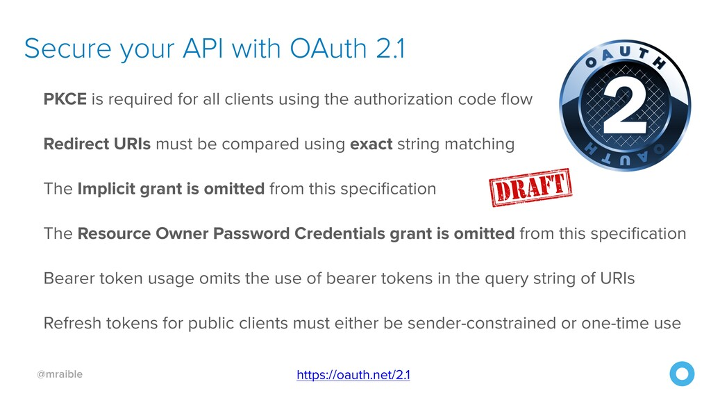 @mraible Secure your API with OAuth 2.1 https:/...
