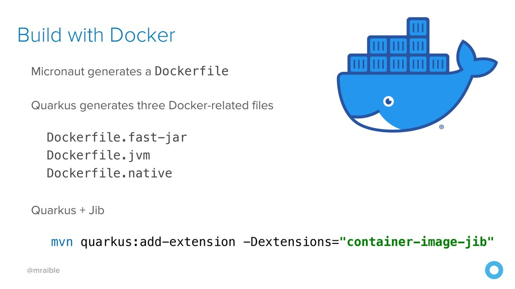 @mraible Build with Docker Micronaut generates ...