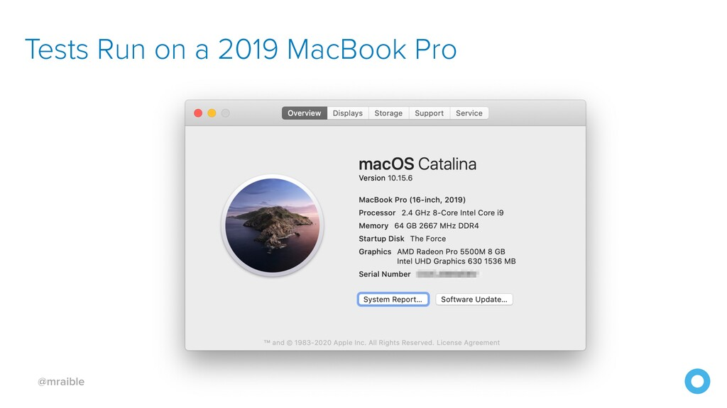 @mraible Tests Run on a 2019 MacBook Pro