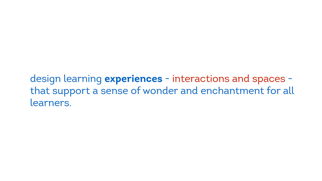 design learning experiences - interactions and ...