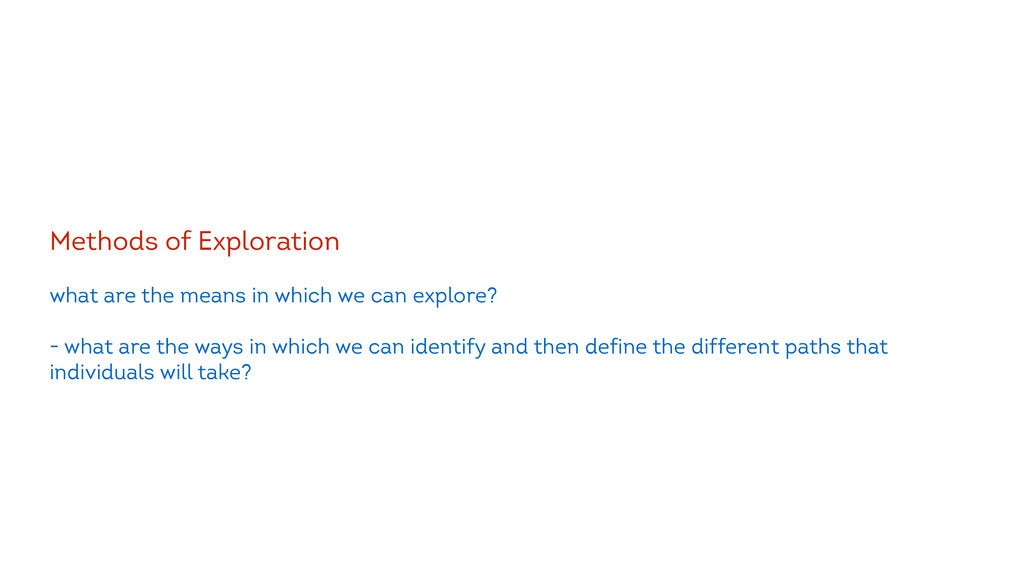! Methods of Exploration ! what are the means i...