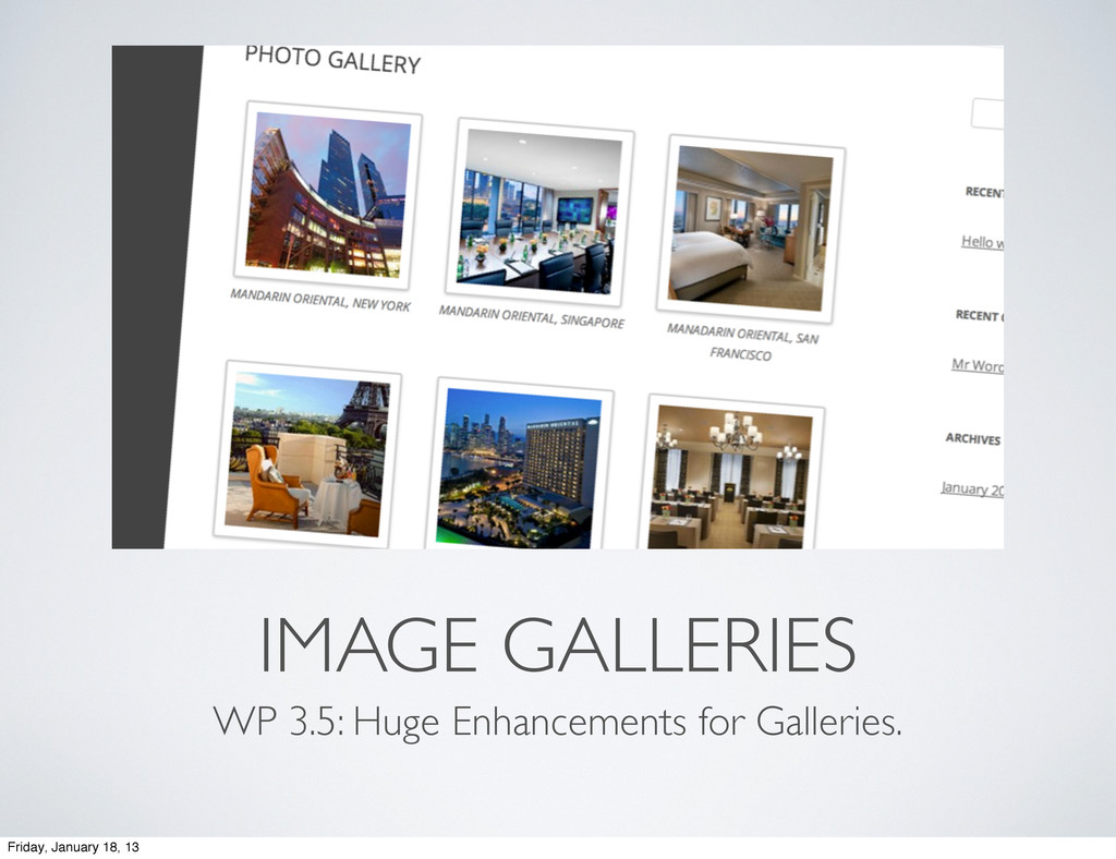 IMAGE GALLERIES WP 3.5: Huge Enhancements for G...