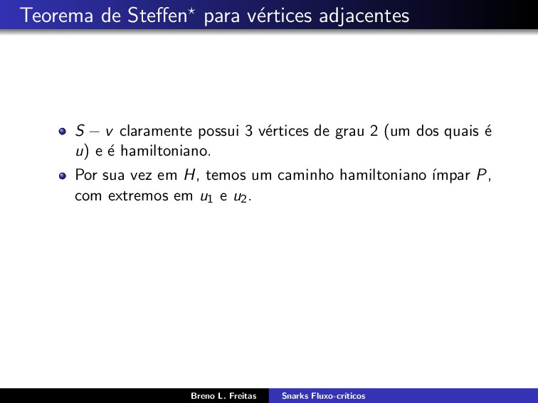 Teorema de Steffen para v´ ertices adjacentes S ...
