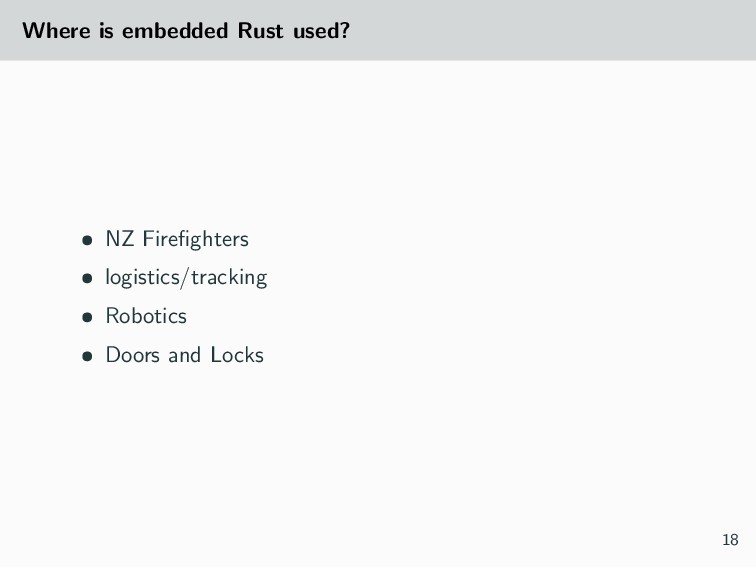 Where is embedded Rust used? • NZ Firefighters •...