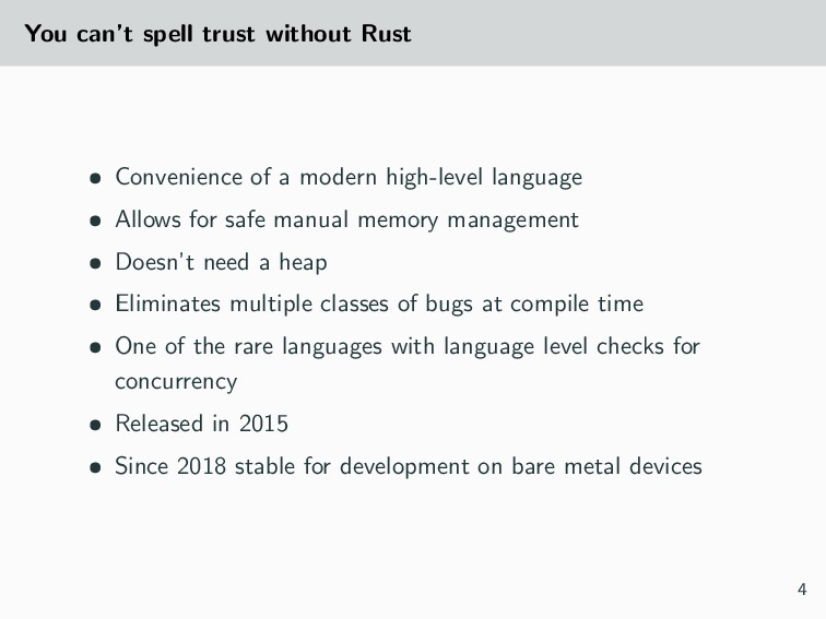 You can't spell trust without Rust • Convenienc...
