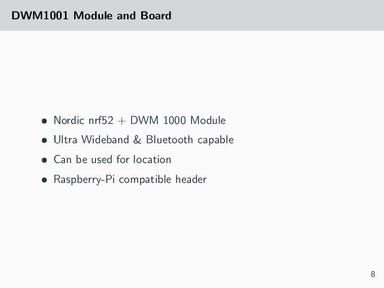 DWM1001 Module and Board • Nordic nrf52 + DWM 1...