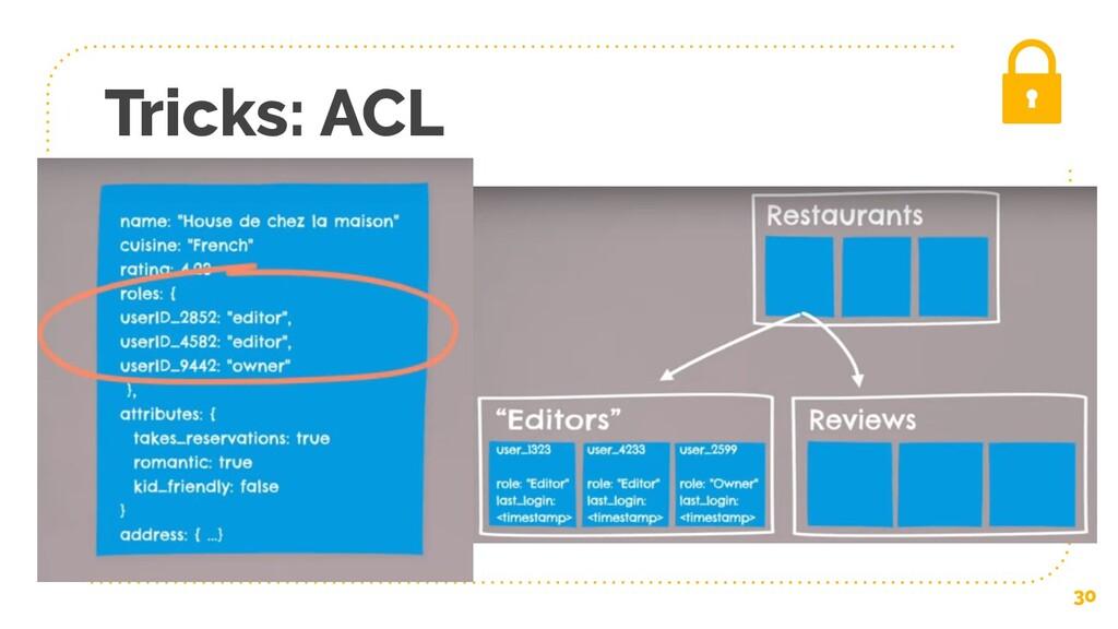 Tricks: ACL 30