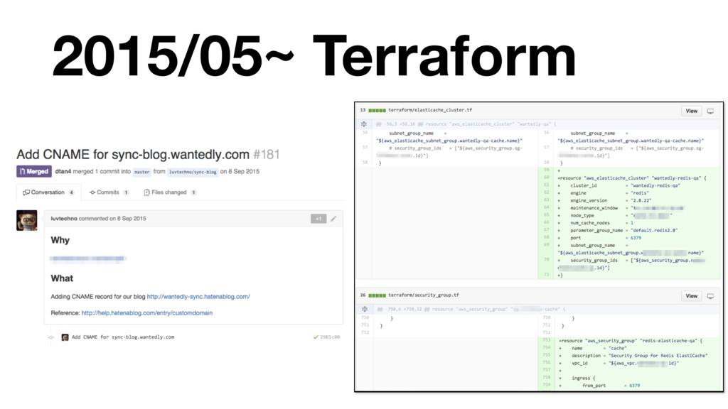 2015/05~ Terraform