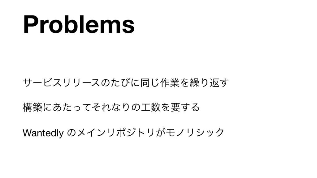 Problems αʔϏεϦϦʔεͷͨͼʹಉ͡࡞ۀΛ܁Γฦ͢  ߏஙʹ͋ͨͬͯͦΕͳΓͷΛ...