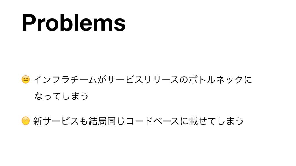 Problems  ΠϯϑϥνʔϜ͕αʔϏεϦϦʔεͷϘτϧωοΫʹ ͳͬͯ͠·͏   ৽α...