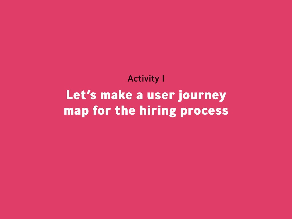 Let's make a user journey map for the hiring pr...