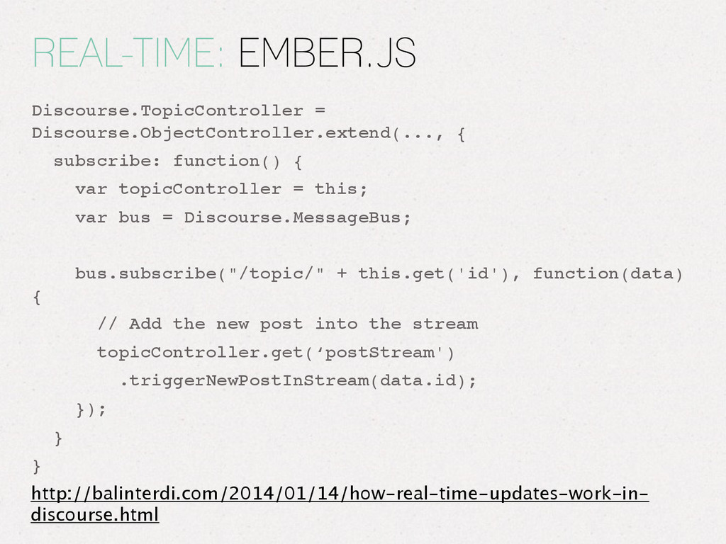REAL-TIME: EMBER.JS Discourse.TopicController =...