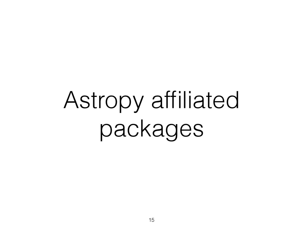 Astropy affiliated packages 15