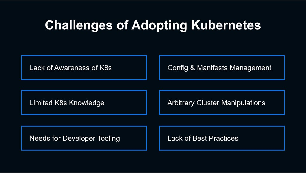 Needs for Developer Tooling Limited K8s Knowled...